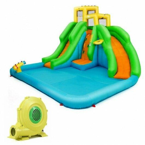Kids Inflatable Water Park Bounce House with 480 W Blower