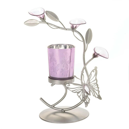 Accent Plus Pink Butterfly Candleholder