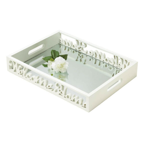 Accent Plus Welcome Home Mirror Tray