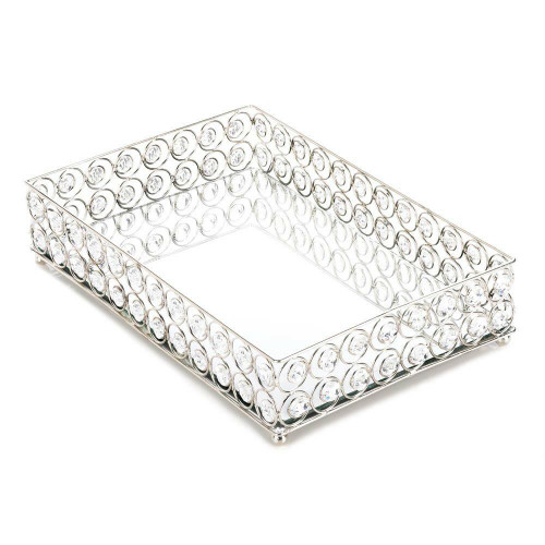 Accent Plus Shimmer Rectangular Jeweled Tray