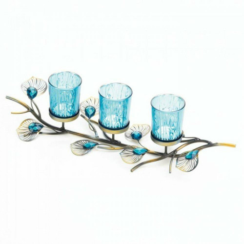 Accent Plus Peacock Inspired Candle Trio