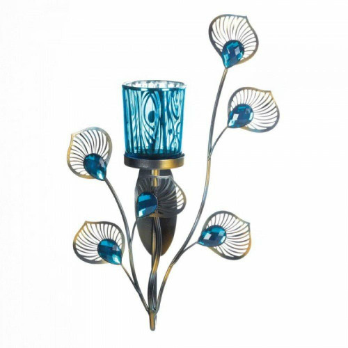 Accent Plus Peacock Inspired Single Sconce
