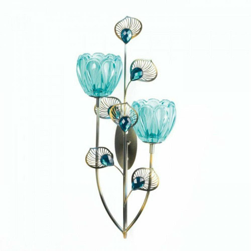 Accent Plus Peacock Blossom Duo Cup Sconce