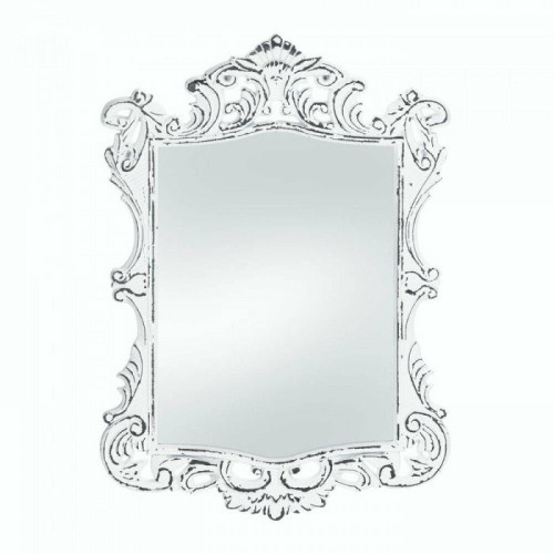Accent Plus Regal White Distressed Wall Mirror