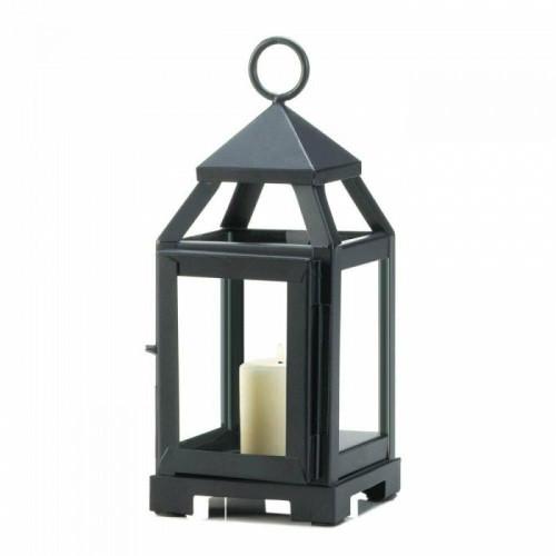 Accent Plus Black Mini Contemporary Lantern
