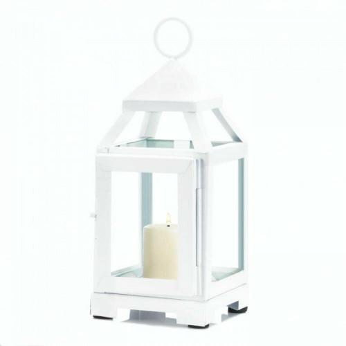 Accent Plus White Mini Contemporary Lantern