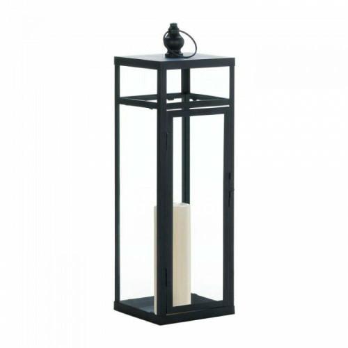 Accent Plus Large Black Dramatic Geometry Lantern