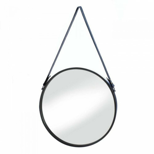 Accent Plus Hanging Mirror With Faux Leather Strap