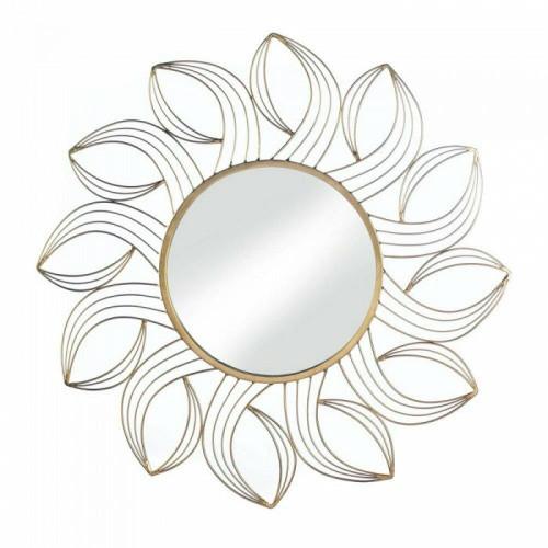 Accent Plus Golden Petals Wall Mirror