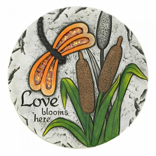 Accent Plus Love Blooms Here Stepping Stone