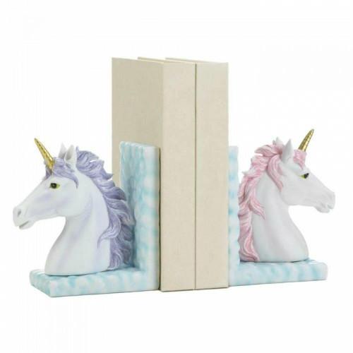 Dragon Crest Magical Unicorn Bookends