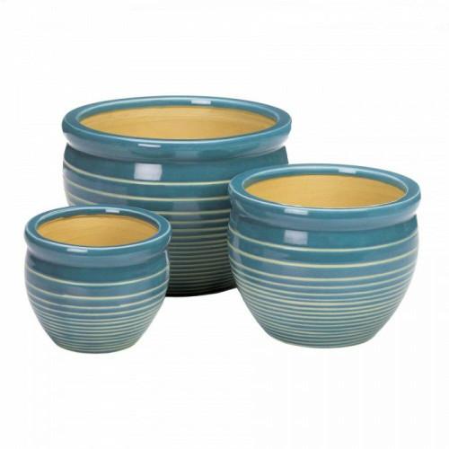 Accent Plus Ocean Breeze Ceramic Planter Set