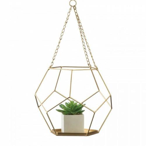 Accent Plus Hanging Geometric Plant Holder