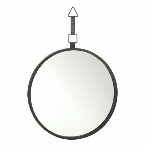 Accent Plus Round Mirror With Leather Strap