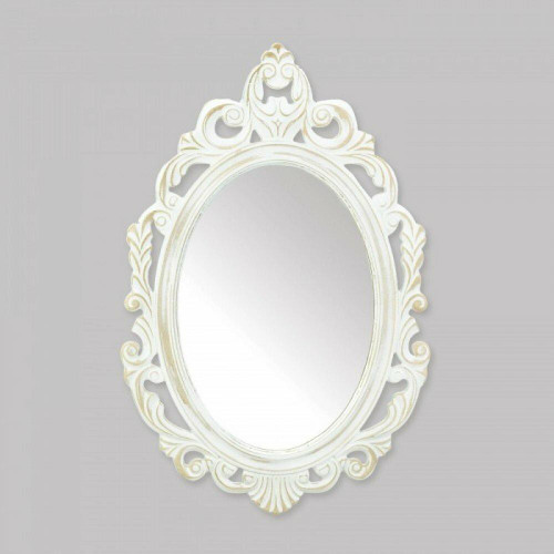 Accent Plus Antiqued White Wall Mirror