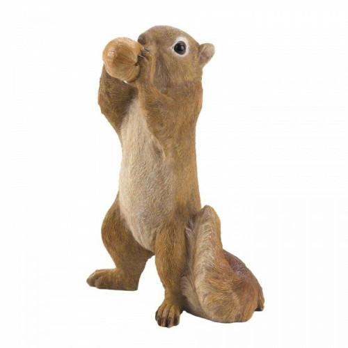 Accent Plus Eating Walnut Squirrel Figurine