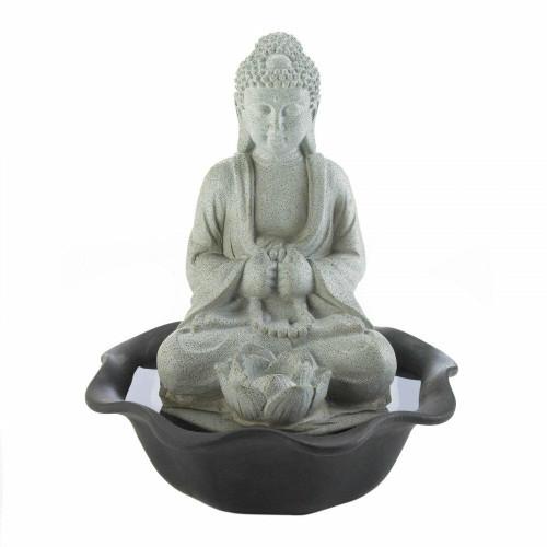 Cascading Fountains Buddha On Lotus Tabletop Fountain