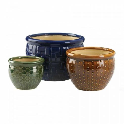Summerfield Terrace Designer Trio Ceramic Plant Pots