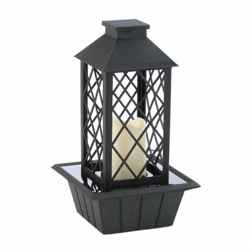 Gallery of Light Black Lantern Tabletop Fountain