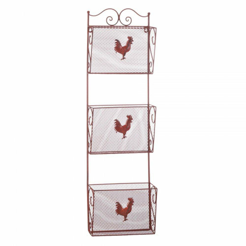 Accent Plus Red Rooster Triple Basket Organizer
