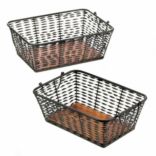 Accent Plus Iron Basket Set Of 2