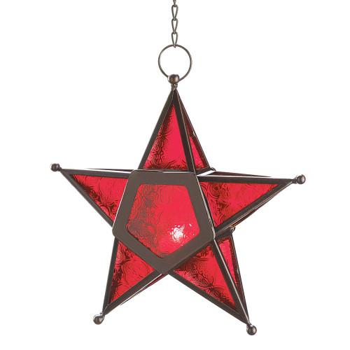 Gallery of Light Red Glass Star Lantern
