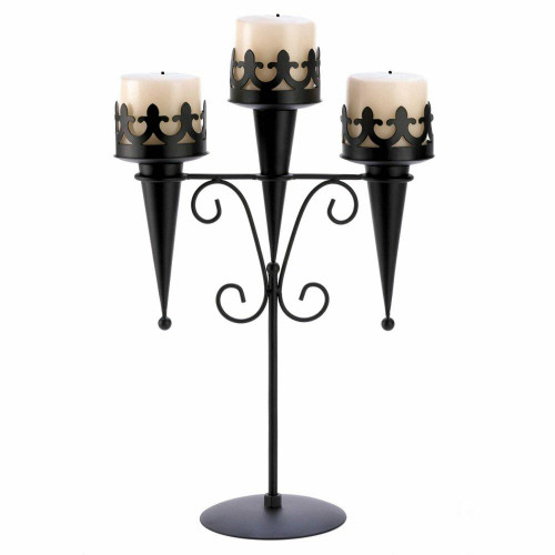 Accent Plus Medieval Triple Candle Stand
