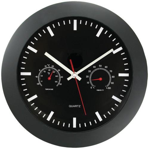 TIMEKEEPER Timekeeper 12andquot; Temperature Andamp; Humidity Wall Clock