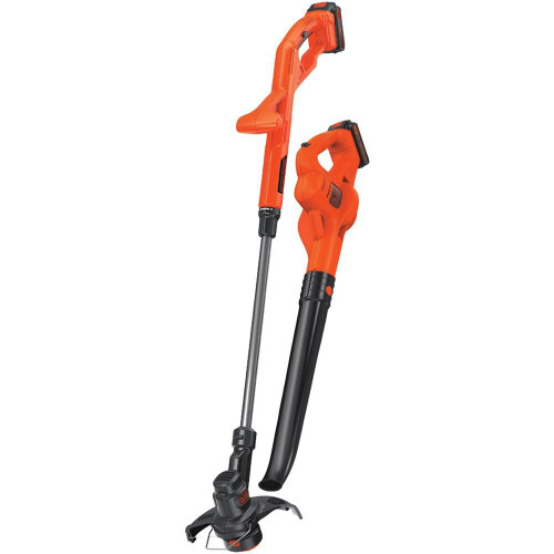 BLACK and DECKER Blackdecker 20-volt Max Lithium 10andquot; String Trimmer And Edger, Hard Surface Sweeper Andamp; 2-battery Combo Kit