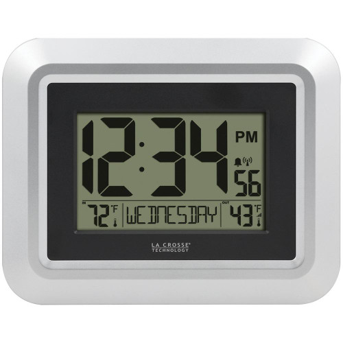 LA CROSSE TECHNOLOGYR La Crosse Technology Atomic Digital Wall Clock With Indoor And Outdoor Temperature
