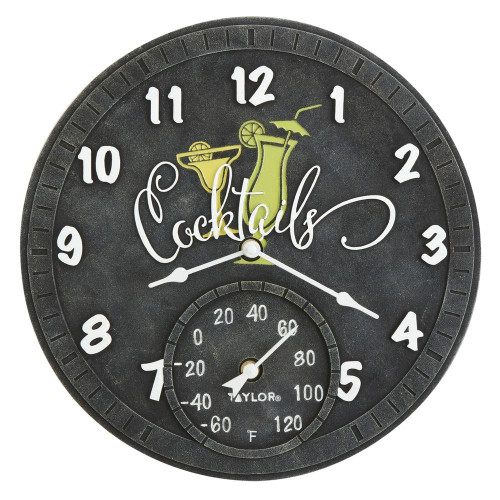 TAYLORR PRECISION PRODUCTS Taylor Precision Products 14-inch Clock With Thermometer cocktails