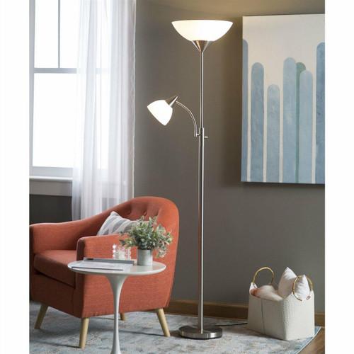 FastFurnishings Modern 71-inch High Floor Lamp with Gooseneck Reading Light