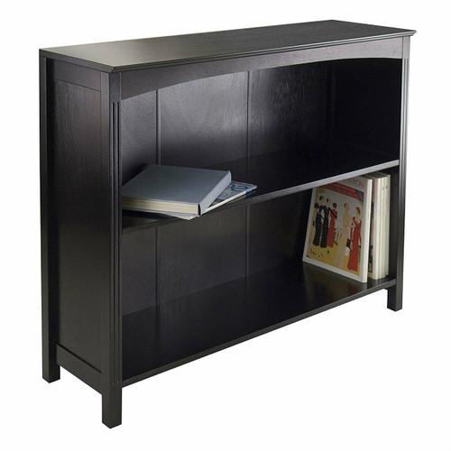 FastFurnishings Espresso Sturdy 3 Tier Bookcase Shelf Dresser