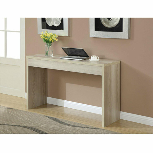 FastFurnishings Contemporary Sofa Table Console Table in Weathered White Wood Finish