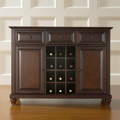 FastFurnishings Vintage Mahogany Dining Room Sideboard Console Table Buffet Sever
