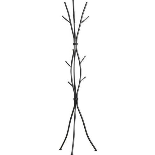 FastFurnishings Metal Tree Branch Style Coat Rack with Multiple Hooks in Black