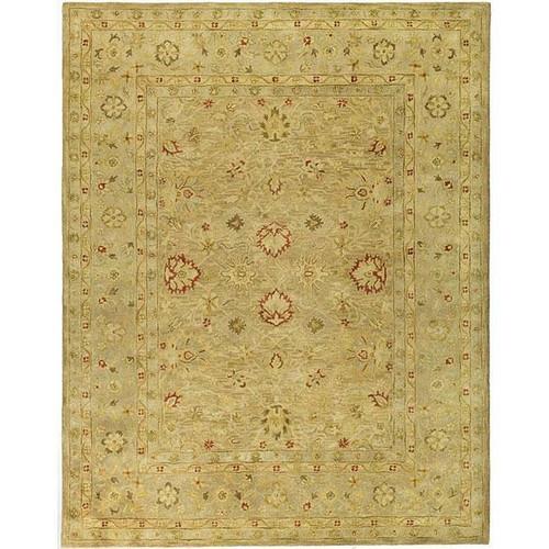 FastFurnishings Handmade Majesty Light Brown/ Beige Wool Rug 76 x 96