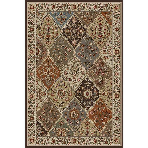 FastFurnishings Ivory Abstract Area Rug 76 x 910