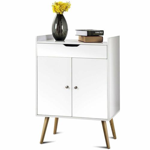 FastFurnishings Mid-Century Modern Style Sideboard Buffet Storage Cabinet