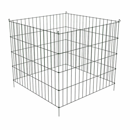 FastFurnishings Steel Metal Wire 3-ft Compost Bin in Green - Make your own Garden Soil at Home