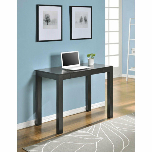 FastFurnishings Sofa Table Laptop Desk Console Table in Espresso Wood Finish
