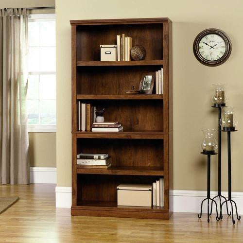 FastFurnishings 5-Shelf Bookcase in Oiled Oak Finish