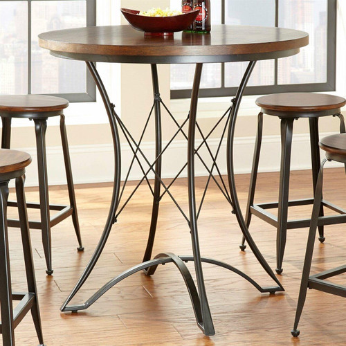 FastFurnishings Round 36-inch Counter Height Kitchen Dining Table