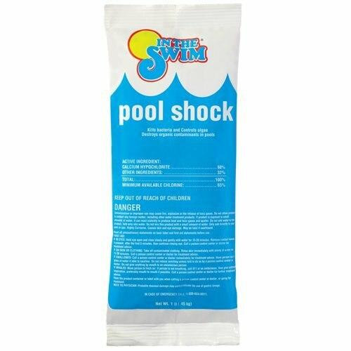 In The Swim Swimming Pool Shock 1 lb packages 68percent Calcium Hypochlorite 6 Pack