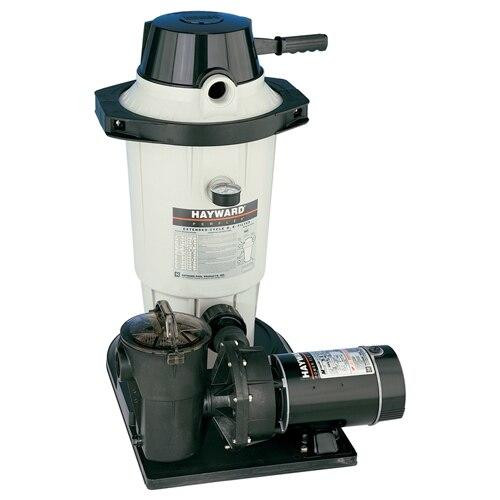 Hayward Hayward W3EC50C93S Aboveground Pool DE Filter System with 1.5 HP Pump