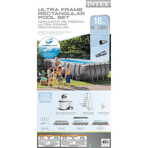 Intex Intex 18 x 9 x 52 Ultra Frame Pool Package Model 26351EH