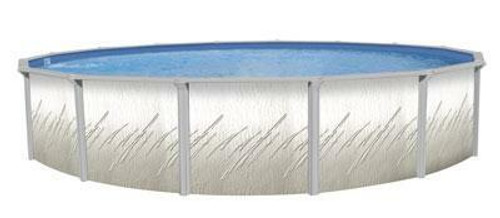 Wilbar International Pretium Round Above Ground Pool 52 Deep with 6 Top Rail
