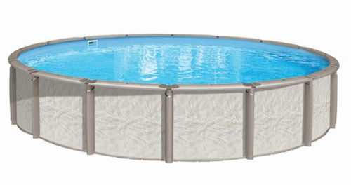 Wilbar International Azor Resin Above Ground Pool Round 54 Deep Pool Package
