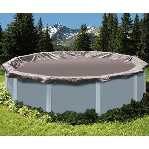 Midwest Canvas Company Super Deluxe Oval Above Ground Winter Cover