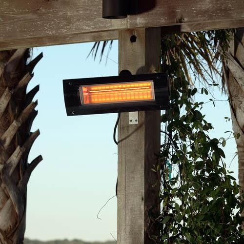 Well Traveled Living Black Powder Coat Infrared Patio Heater